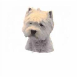 Autocollant race Westie Higland Terrier 7 cm - Lot de 4