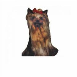 Autocollant race Yorkshire Terrier 7 cm - Lot de 4