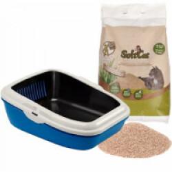 Kit litière Softcat sac de 17 litres + 1 bac à litière Tamis Birba