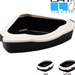 Bac toilette à rebord pour litière de chat Corner L 42 x 56 x H 12/15 cm