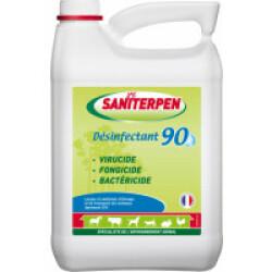Bactéricide fongicide virucide Saniterpen 90 suractive 5 L