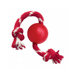 Balle avec corde pour chien de 7 kg à 16 kg KONG