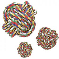 Balle de coton multicolore pour chien Ø 6cm