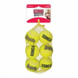 Lot de 6 balles de tennis sonore Squeakair pour chien KONG Medium diamètre 6,5 cm