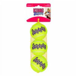 Lot de 3 balles de tennis sonore Squeakair pour chien KONG Small diamètre 5 cm