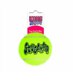 Balle de tennis sonore pour chien Squeakair KONG Medium diamètre 6,5 cm