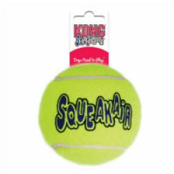 Balle de tennis sonore Squeakair pour chien KONG Large diamètre 8 cm