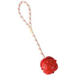 Balle flottante Trixie avec corde pour chien (ø 4,5/35 cm)