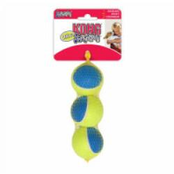 Lot de 3 balles à couinement pour chien KONG Ultra Squeakair Ball Medium