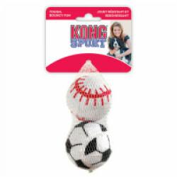 Lot de 2 balles en caoutchouc pour chien KONG Sport Ball diamètre 7,5 cm