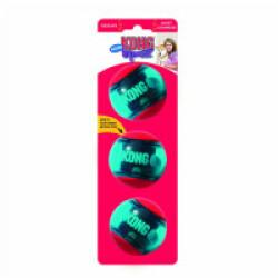 Lot de 3 balles pour chien avec squeaker KONG Action Squeezz Small 5 cm