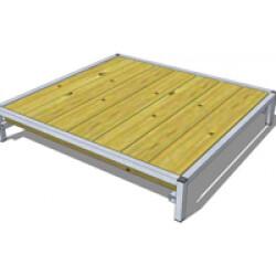 Banc de couchage en bois avec cadre acier pour chien Petit Modèle