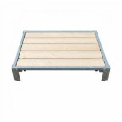 Banc de couchage en bois pour chien petit modèle