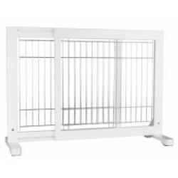 Barrière réglable pour chien en pin blanc Trixie - 65–108 × 61 cm