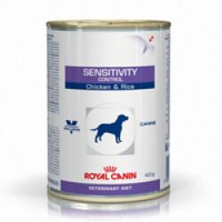 Boîtes Royal Canin Veterinary Diet Sensitivity Control pour chiens Saveur Poulet 12 Boîtes de 420 g