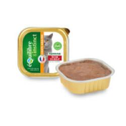 Boîte pour chat adulte Equilibre et Instinct 16 Barquettes de 100 g bœuf et carottes