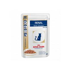 Bouchées Royal Canin Veterinary Diet Renal pour chats Bouchées en sauce Poulet 12 Sachets 85 g