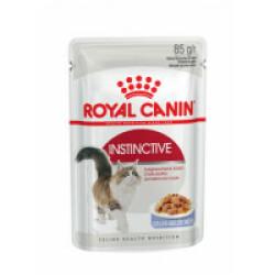 Bouchées en gelée pour chat Royal Canin Instinctive en gelée lot de 12 sachets 85 g (DLUO 3 mois)