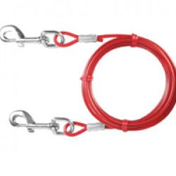 Câble d'attache pour chien sans ressort 3 m