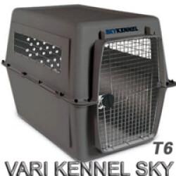 Cage avion et automobile Vari Kennel Sky pour le transport du chien T6 gris
