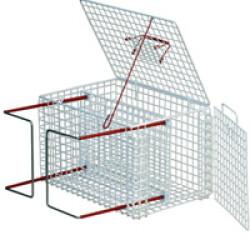 Cage de contrainte à double ouverture pour chat et petits animaux