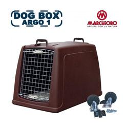 Cage de transport pour chien Dog Box Argo 1 en profondeur marron