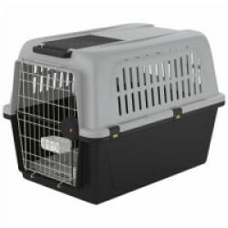Cage de transport pour chien et chat Atlas 50 automobile et avion T3 Gris
