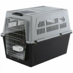 Cage de transport pour chien et chat Atlas 70 automobile et avion T5 Gris