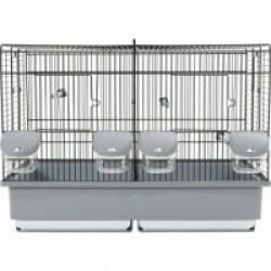 Cage d'élevage Cova 57 noir et gris pour oiseaux Zolux