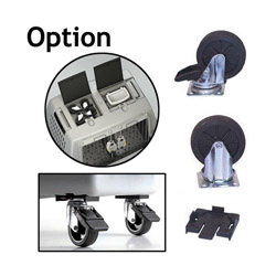 Roulette kit de 4 pcs pour cage Gulliver Touring transport en avion et automobile pour chien