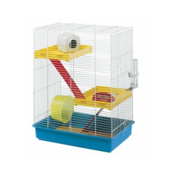 Cage hamster Ferplast Tris blanche à étages