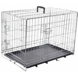 Cage pour chien métallique 2 portes Taille XS 63 cm x 43 cm x H 49 cm