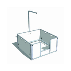 Caisse de mise bas Mat'Pro 850 - 85 x 85 cm