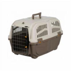 Caisse de transport en plastique Normes IATA Skudo pour chien et chat - Taille XS : 30 × 32 × 49 cm
