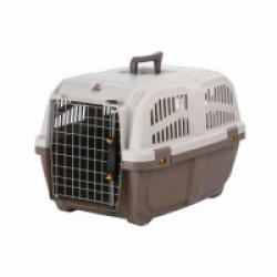 Caisse de transport en plastique Normes IATA Skudo pour chien et chat - Taille XS–S : 35 × 36 × 55 cm