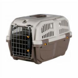 Caisse de transport en plastique Normes IATA Skudo pour chien et chat - Taille S : 40 × 39 × 60 cm