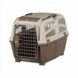 Caisse de transport en plastique Normes IATA Skudo pour chien et chat - Taille S–M : 48 × 51 × 68 cm