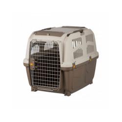Caisse de transport en plastique Normes IATA Skudo pour chien et chat - Taille M : 59 × 65 × 79 cm