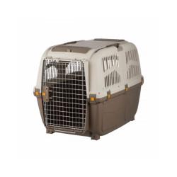 Caisse de transport en plastique Normes IATA Skudo pour chien et chat - Taille M–L : 63 × 70 × 92 cm