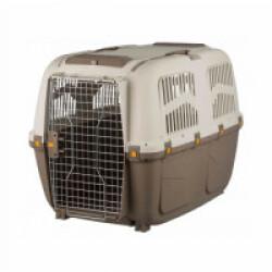 Caisse de transport en plastique Normes IATA Skudo pour chien et chat - Taille L : 73 × 76 × 105 cm