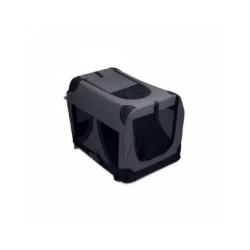 Caisse de transport noire pliable pour chien M-Pets
