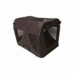 Caisse de transport pour chien M-Pets noire pliable Taille XS