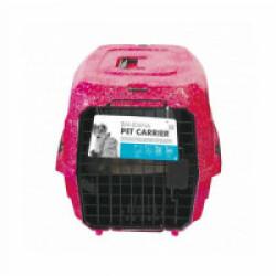 Caisse de transport pour chien ou chat M-Pets 46 x 31 x 23 cm Motifs bandana rouge