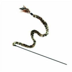Canne à pêche en peluche pour chat avec plumes KONG 138 cm