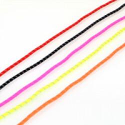 Lot de 4 cordes de trait pour ceinture canicross Kn'1 Runfaster (rouge, jaune, rose et orange)