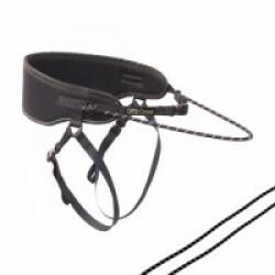 Ceinture baudrier canicross Runfaster Kn'1 pour course avec chien corde noire