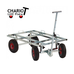 Chariot tout terrain de luxe pour transport de cage de chien et chat
