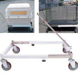 Chariot universel réglable pour transport de cages animalières