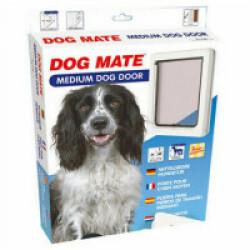 Chatière manuelle blanche pour chien Dog Mate Medium 215 W