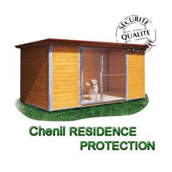 Chenil bois résidence protection pour chien 2x2 m avec 1 porte